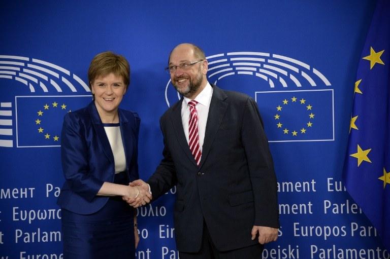 Martin Schulz i Nicola Sturgeon /AFP