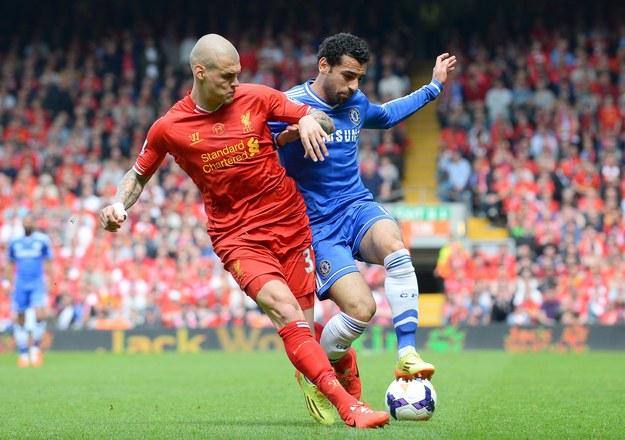 Martin Skrtel z Liverpoolu i Mohamed Salah /AFP