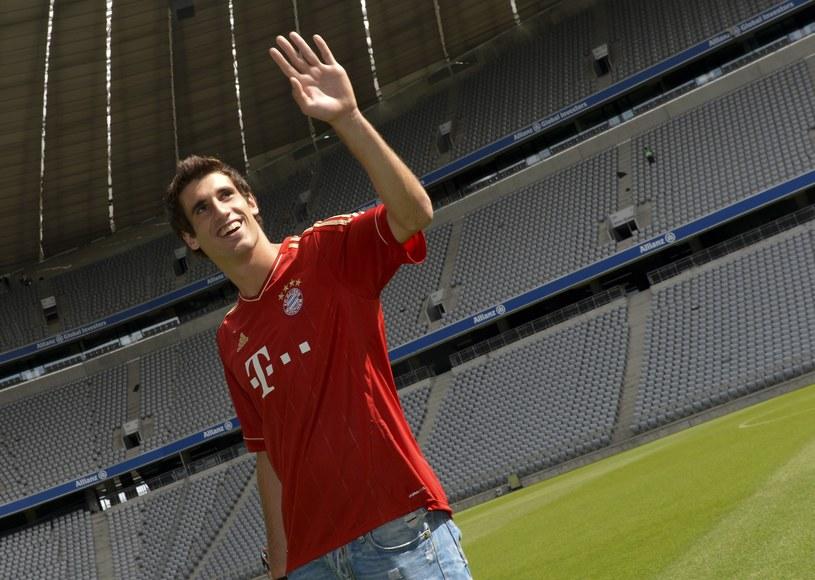 Martinez w koszulce Bayernu na stadionie w Monachium /AFP