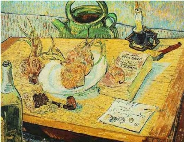 Martwa nautra z rysownicą, fajką i cebulą (1889) /Kopalnia Wiedzy
