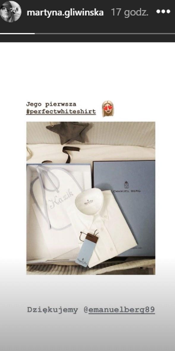 Martyna Gliwińska pochwaliła się prezentami dla synka na InstaStories /Instagram /materiał zewnętrzny