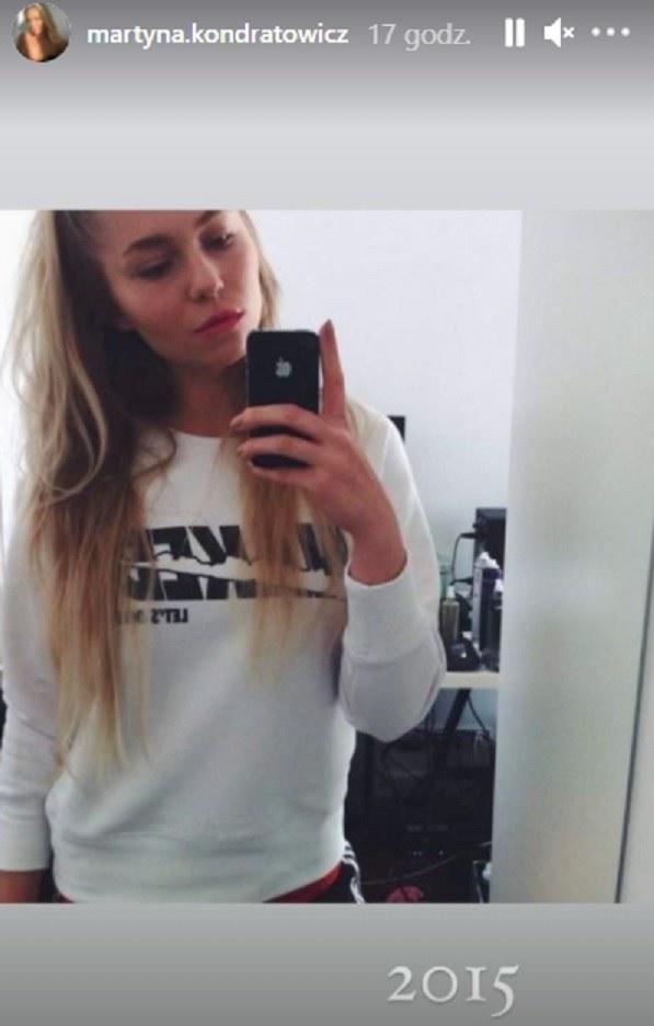 Martyna Kondratowicz jeszcze przed operacjami plastycznymi /screen /Instagram