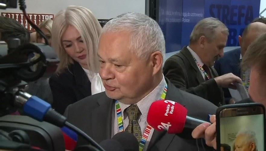Martyna Wojciechowska i Adam Glapiński /TVN24/x-news