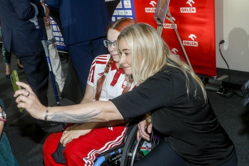 Martyna Wojciechowska na konferencji Polskiego Komitetu Paraolimpijskiego /Baranowski /AKPA