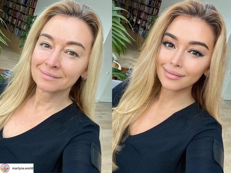 Martyna Wojciechowska napisała, że z badań przeprowadzonych w ramach akcji #PieknoBezFiltra wynika, iż w Polsce aż 91 proc. nastolatków modyfikuje swój wygląd w mediach społecznościowych /Instagram