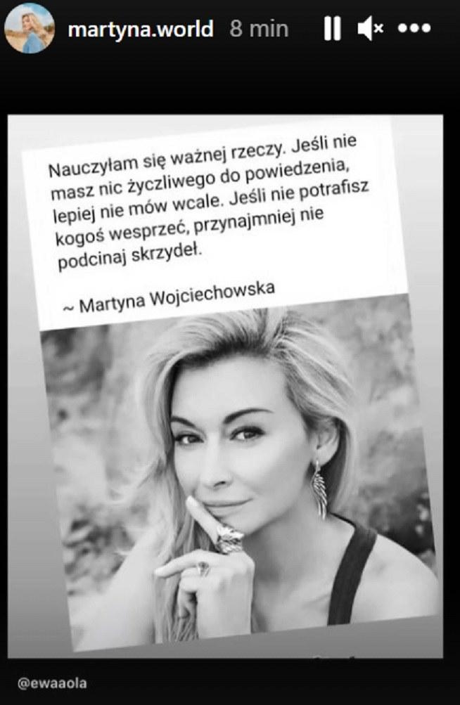 Martyna Wojciechowska w wymowny sposób skomentowała rozstanie z Przemkiem Kossakowskim /@martyna.world /Instagram