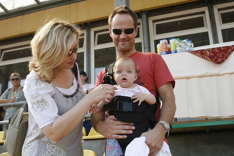 Martyna z Jerzym i córką Marysią /Wojtalewicz Jarosław /AKPA