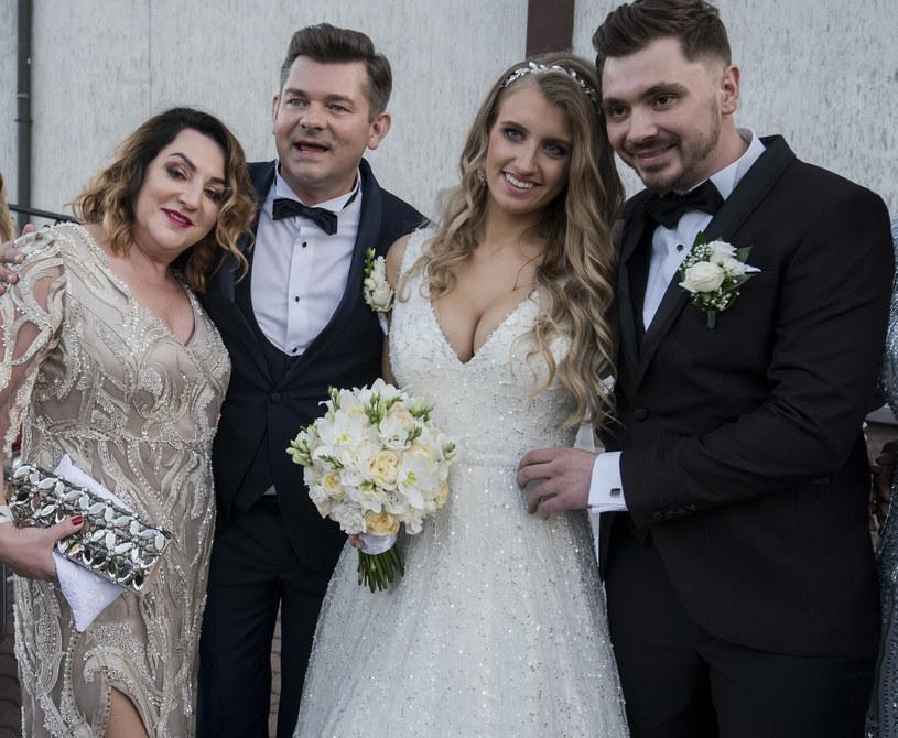 Martyniukowie w dniu ślubu, fot. Michal Kosc /Agencja FORUM
