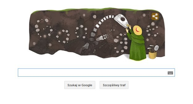 Mary Anning w Google Doodle /Internet