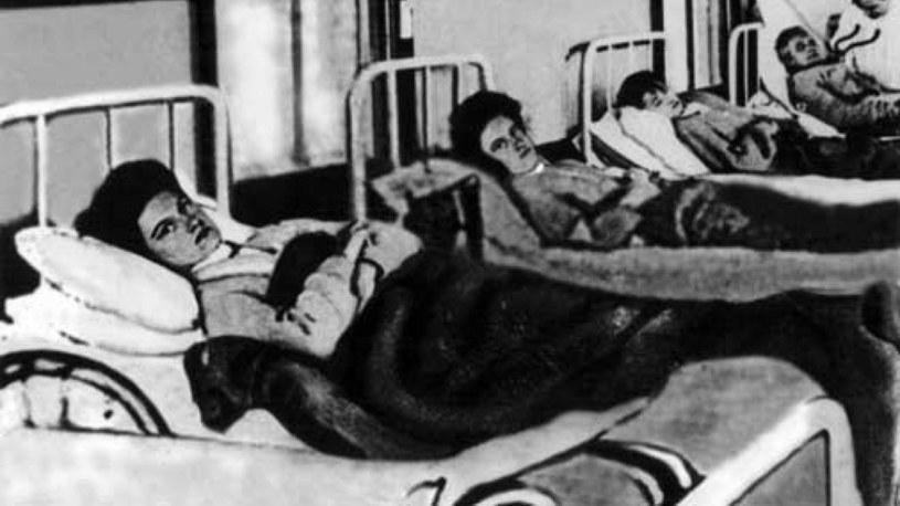 Mary Mallon w szpitalnym łóżku (domena publiczna) /Ciekawostki Historyczne