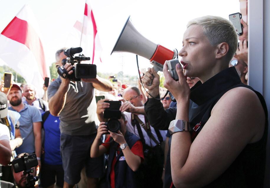 Maryja Kalesnikawa /TATYANA ZENKOVICH  /PAP/EPA