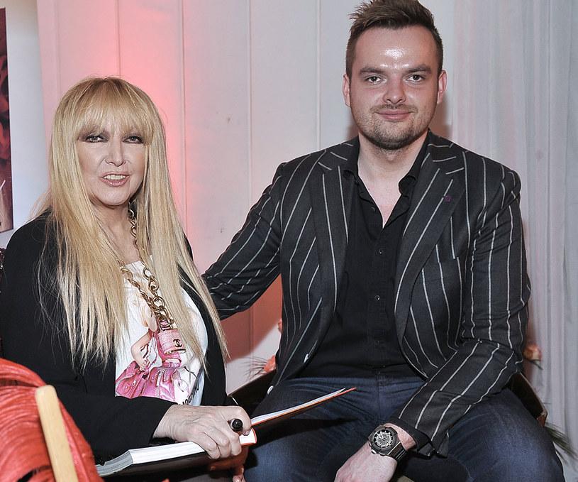 Maryla Rodowicz i syn Jędrek /AKPA