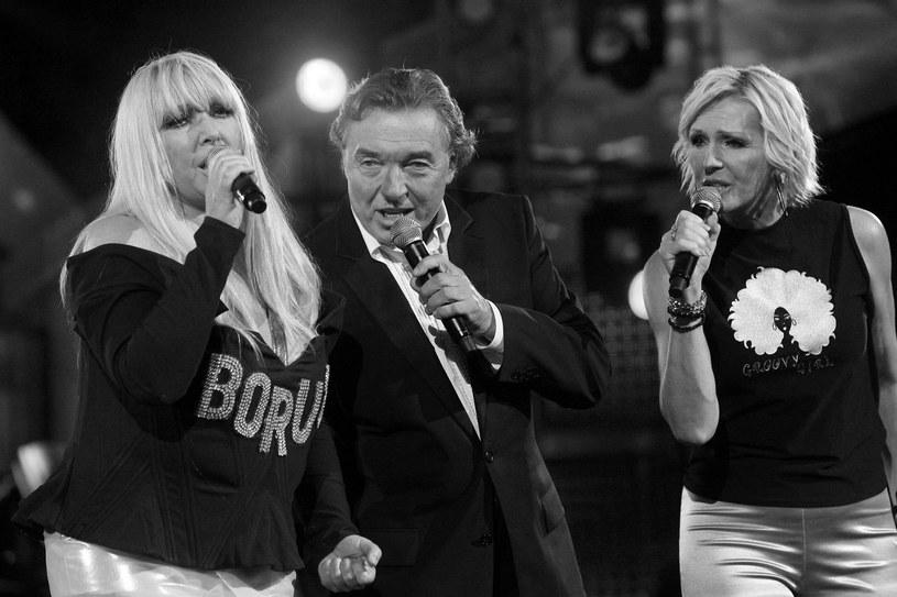 Maryla Rodowicz, Karel Gott i Helena Vondráčková w Sopocie w 2006 r. /Piotr Fotek /Reporter