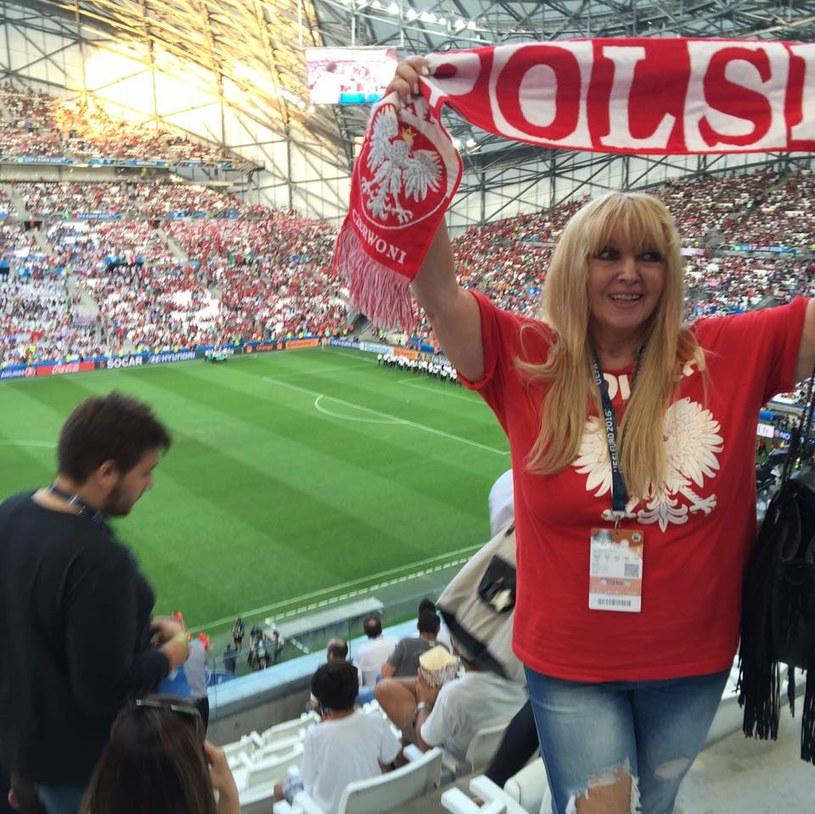 Maryla Rodowicz na stadionie w Marsylii /oficjalna strona wykonawcy