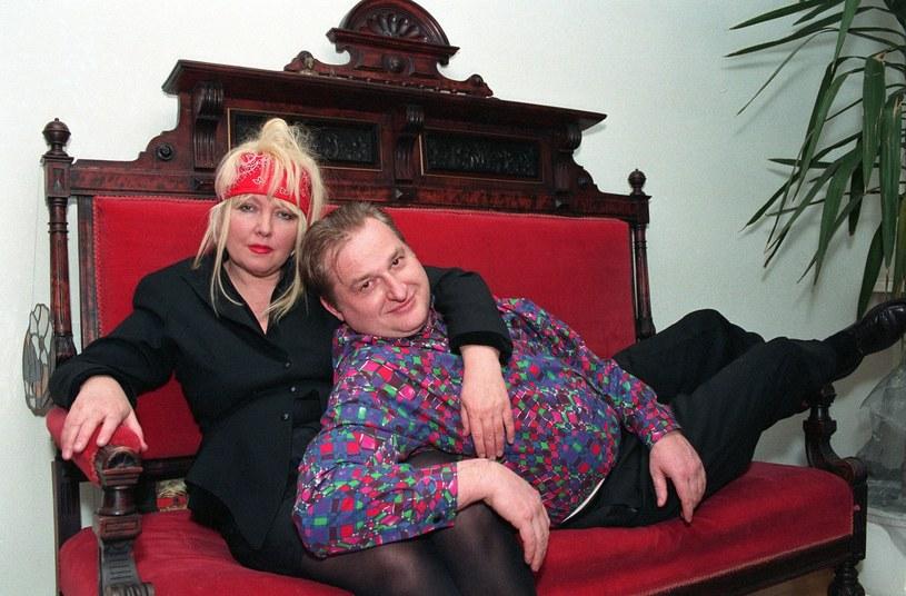 Maryla Rodowicz z mężem, lata 90., fot. Fotonova /Zenon Zyburtowicz /East News