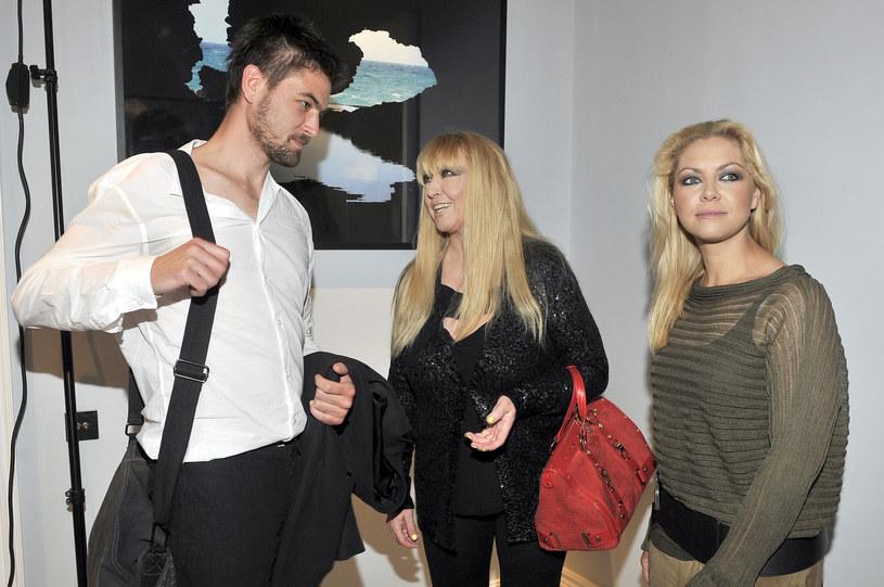 Maryla Rodowicz z synem Janem i córką Kasią /Kurnikowski /AKPA