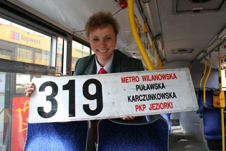 Marzena Biały realizuje się za kierownicą autobusu miejskiego. Fot. Katarzyna Dziewicka /