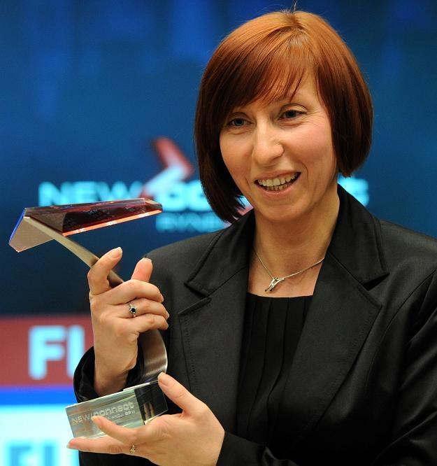 Marzena Gładka, prezes firmy Fluid, podczas debiutu na NewConnect /PAP