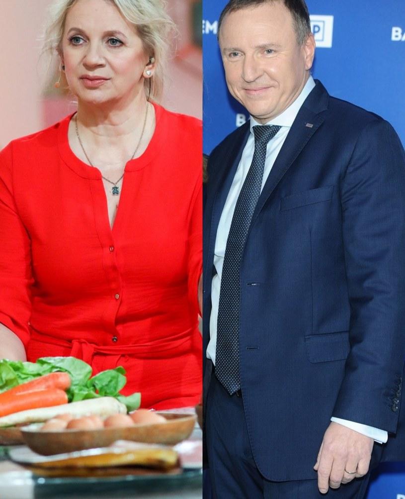 Marzena Rogalska i Jacek Kurski /FORUM /Agencja Forum