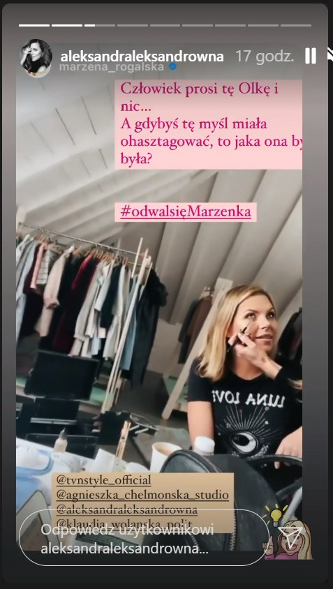 Marzena Rogalska i Ola Kwaśniewska /Instagram