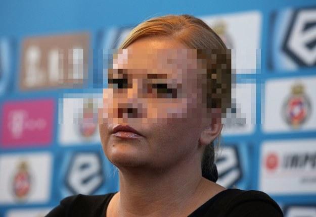Marzena S.-C. podczas konferencji prasowej /Stanisław Rozpędzik /PAP