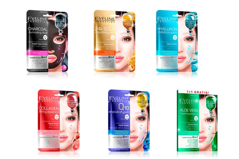 Maseczki na tkaninie marki Eveline Cosmetics /materiały prasowe