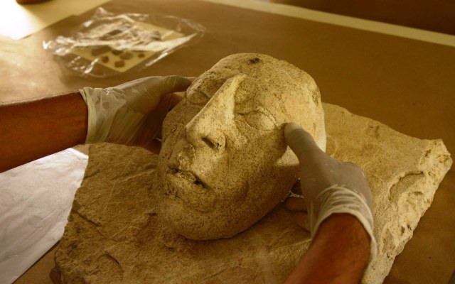 Maska króla Pakala Fot.  INAH (National Institute of Archeology and History) /materiały prasowe