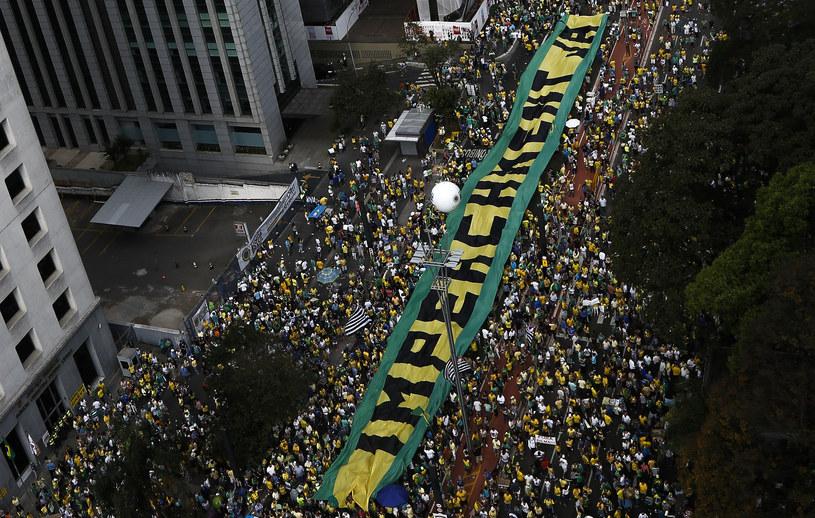 Masowe protesty w Brazylii /AFP