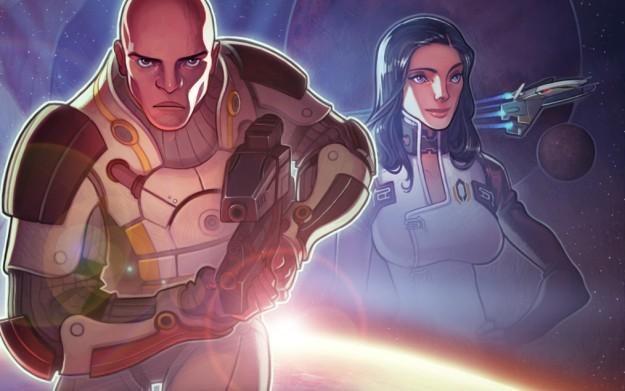 Mass Effect: Galaxy - motyw graficzny /Informacja prasowa