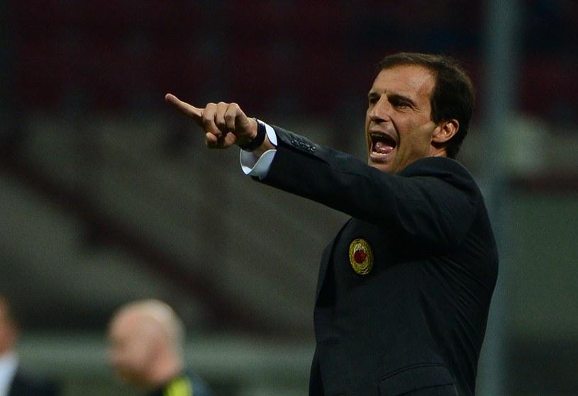 Massimiliano Allegri jest krytykowany za słabą grę AC Milan /AFP