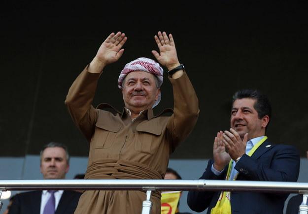 Masud Barzani, prezydent autonomicznego rządu kurdyjskiego w północnym Iraku. /GAILAN HAJI /PAP/EPA