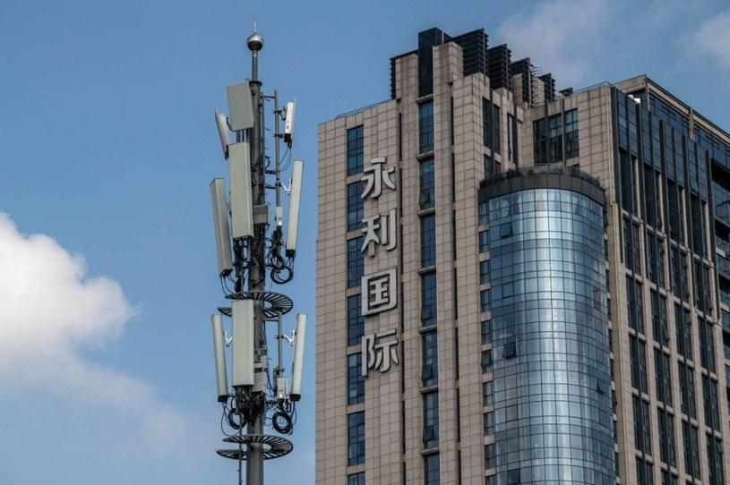 Maszt 5G w Pekinie /AFP