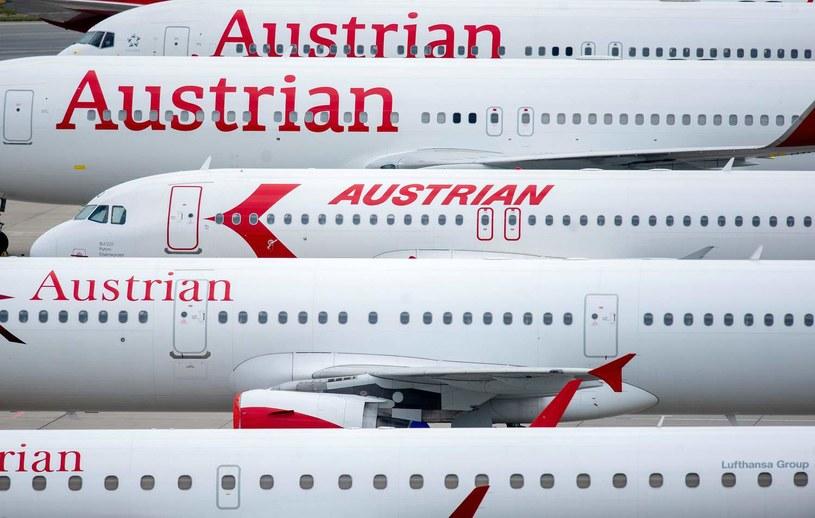 Maszyny Austrian Airlines na lotnisku w Wiedniu /AFP