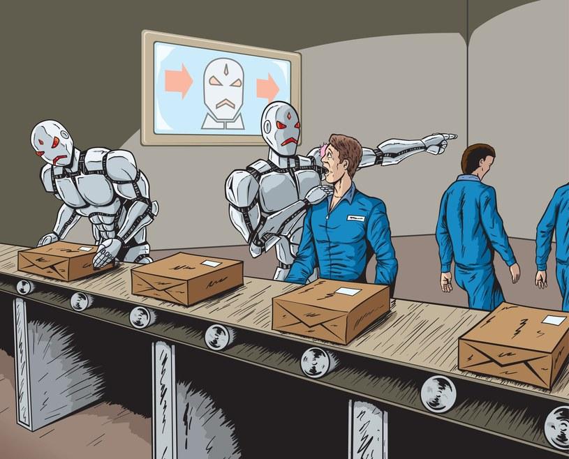 Maszyny umożliwią wzrost PKB, ale jednocześnie obniżą zapotrzebowanie na pracę nisko i przeciętnie wykwalifikowanych osób /123RF/PICSEL