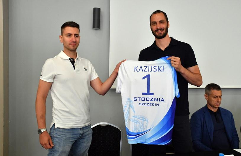 Matej Kazijski i Michał Gogol / PAP/Marcin Bielecki    /PAP