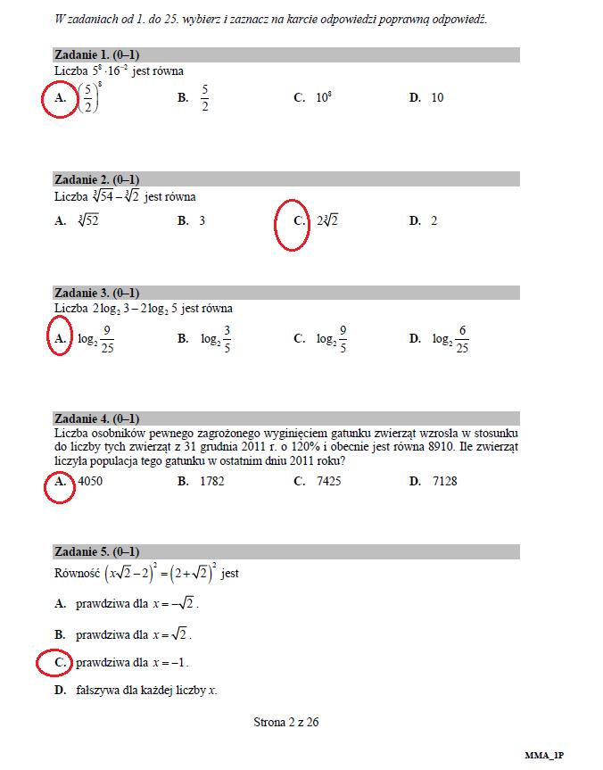 Matematyka poziom podstawowy /INTERIA.PL