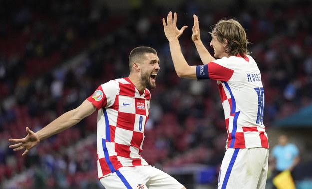 Mateo Kovacic i Luka Modric /Petr Josek / POOL /PAP/EPA