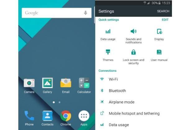 Material Design w wersji dla Samsunga Galaxy S6 i S6 Edge /materiały prasowe