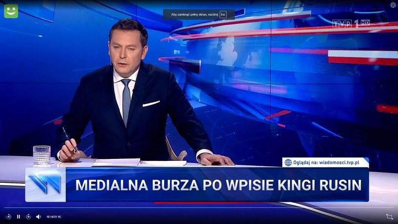 """Materiał o Kindze pojawił się w głównym wydaniu """"Wiadomości""""! (Screen: wiadomosci.tvp.pl) /TVP /materiał zewnętrzny"""