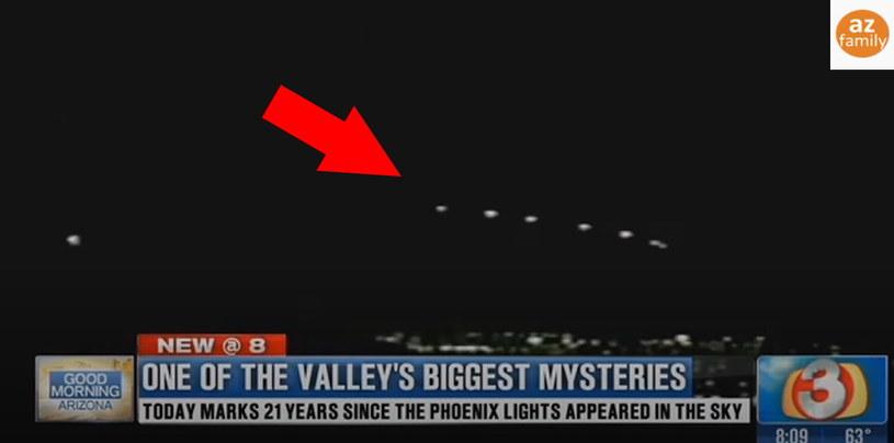 Materiał telewizyjny na temat wydarzeń nad Nevadą i Arizoną - fragment wideo zarejestrowanego w 1997 roku /YouTube