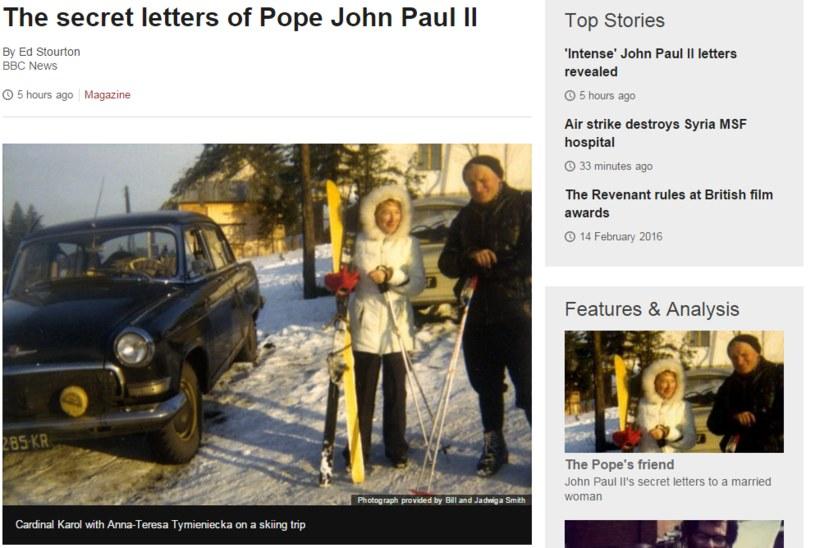 Materiał zapowiadający film o Janie Pawle II /bbc.com /