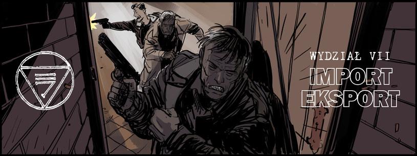 Materiały graficzne z komiksu Wydział 7 /materiały prasowe