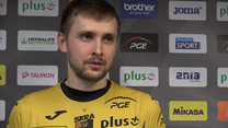Mateusz Bieniek (Skra) po porażce z ZAKSĄ. Wideo