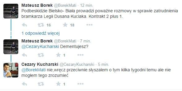 Mateusz Borek dyskutuje na Twitterze z Cezarym Kucharskim /Twitter /Internet