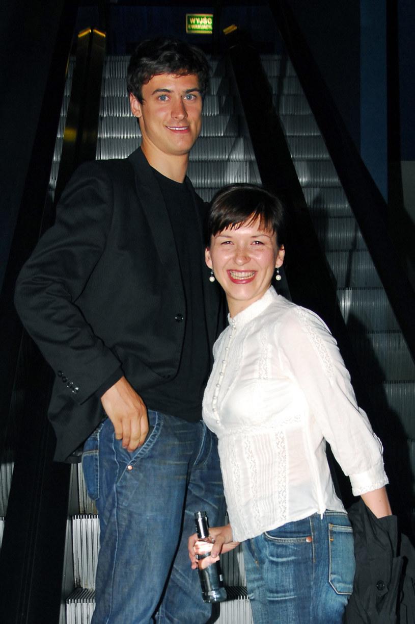 Mateusz Damięcki i Kasia Łaska w 2006 roku /Kurnikowski /AKPA