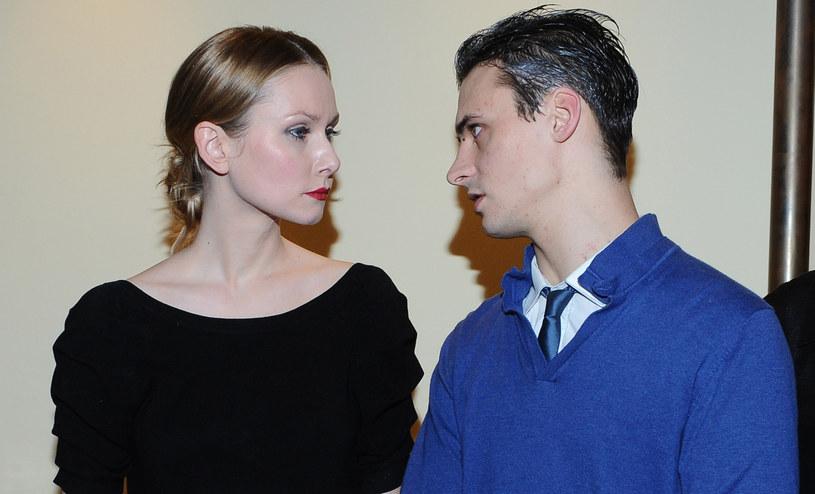 Mateusz Damięcki z pierwszą żoną /Andras Szilagyi /MWMedia