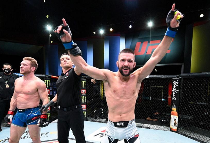 Mateusz Gamrot odniósł pierwsze zwycięstwo w UFC /Chris Unger/Zuffa LLC /Getty Images