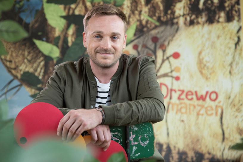 "Mateusz Gessler w programie ""Drzewo marzeń"" /Agnieszka K. Jurek /TVN"