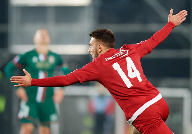 Mateusz Klichowicz zdobył gola w meczu ze Śląskiem /Fot. Adam Warżawa /PAP