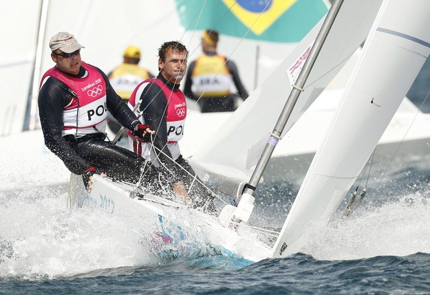 Mateusz Kusznierewicz i Dominik Życki na igrzyskach olimpijskich w Londynie /OLIVIER HOSLET /PAP/EPA